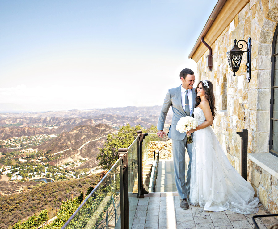 Malibu wedding venues gigi owains wedding was a fairy tale event but with so many unexpected twists they exchanged vows on a helipad with 360 views of malibu vineyards at junglespirit Images