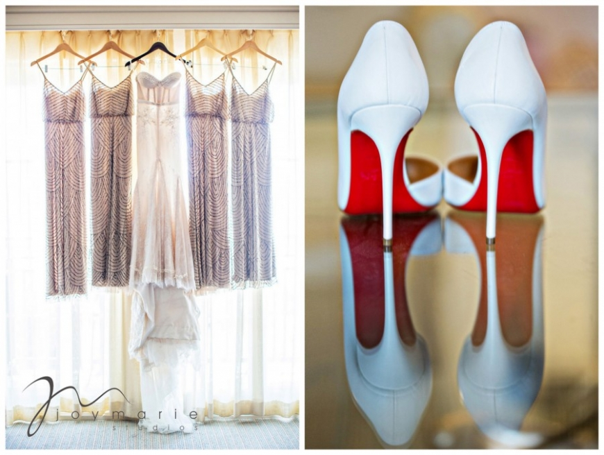 Wedding shoes and dresses