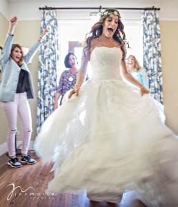 Bride getting ready you